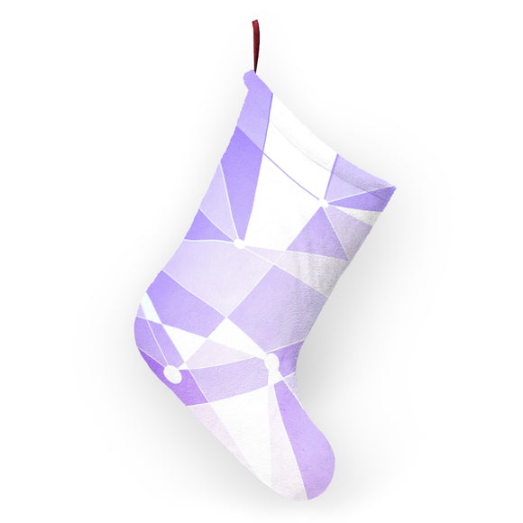 Purple Wall Christmas Stocking, Holiday Sock, Mantle, Disney Christmas Decor