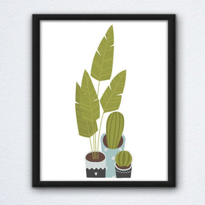 Cartoon Plants Wall Art