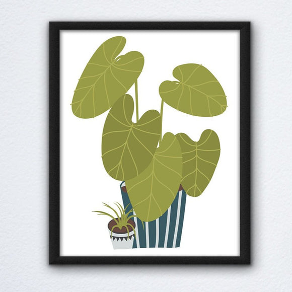 Cartoon Elephant Ear Wall Art