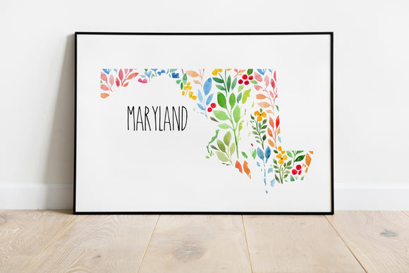 Colorful Maryland Wall Art