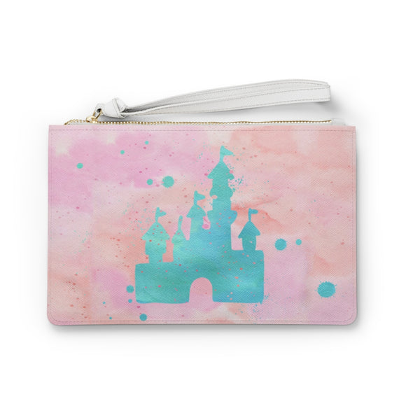 Pink Castle Clutch Bag