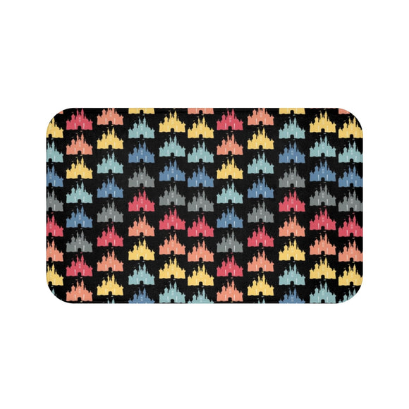 Black Rainbow Castle Bath Mat