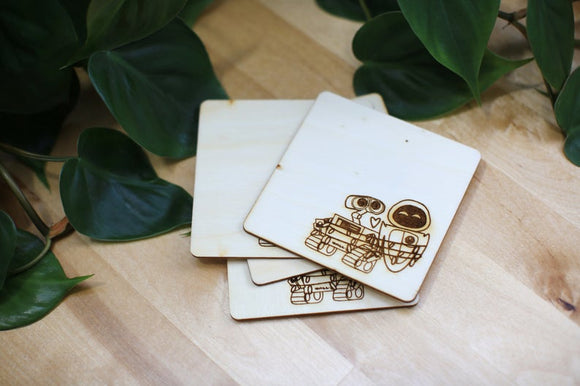 Wall-e and Eve Coasters