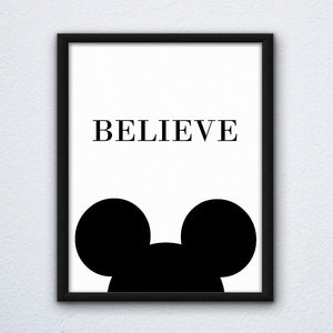 Mickey Believe Wall Art