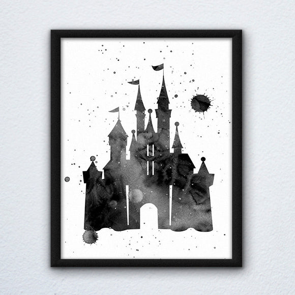 Inked Castle Print
