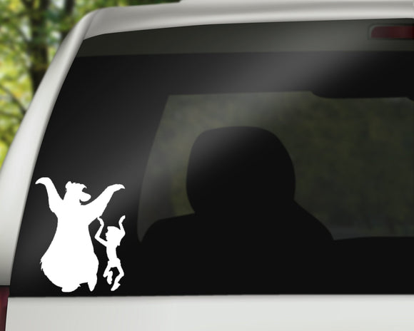Mowgli and Baloo Decal