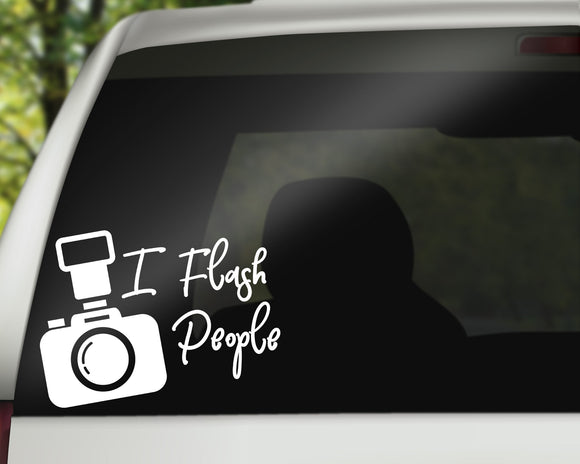 I Flash People Decal