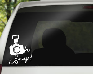 Oh Snap Camera Decal