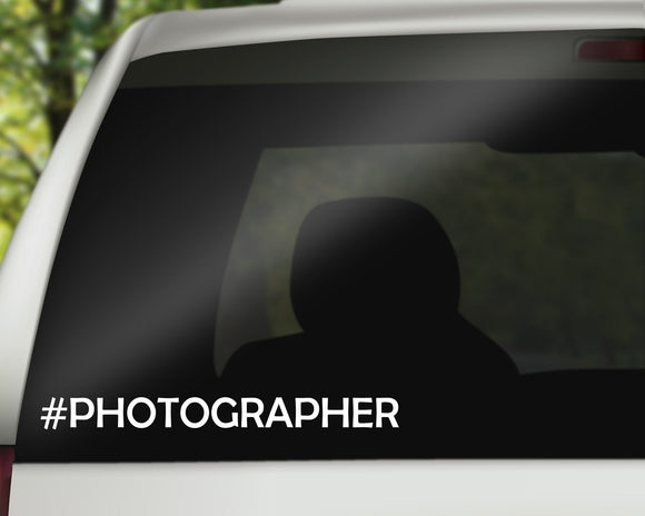 Photographer Decal
