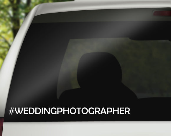 Wedding Photographer Decal