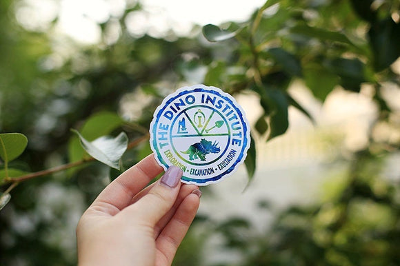 Dino Institute Sticker