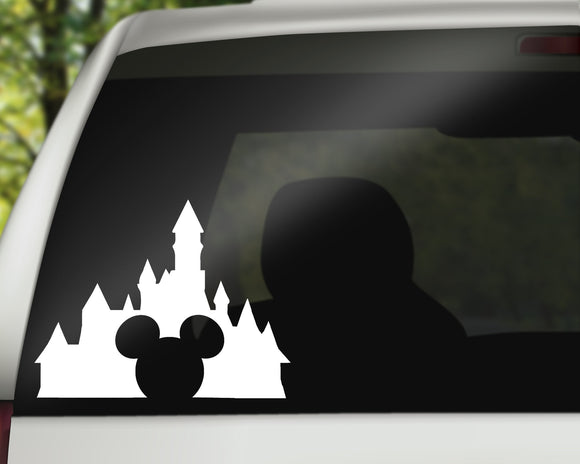 Disneyland Mickey Castle Decal