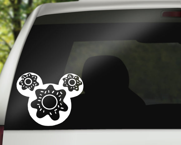 Mickey Donut Decal