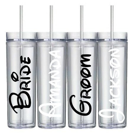 Wedding Tumbler Decal
