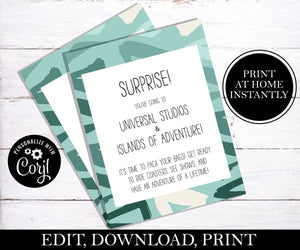 Going To Universal Letter; EDITABLE