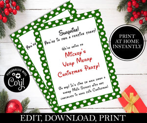 Going To Mickey's Christmas Party Letter; EDITABLE