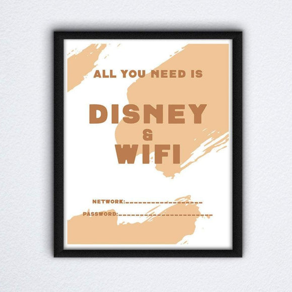 Multi Colors Disney Wifi Wall Art,