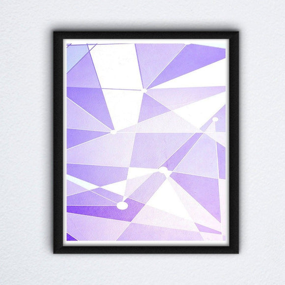 Purple Wall Print
