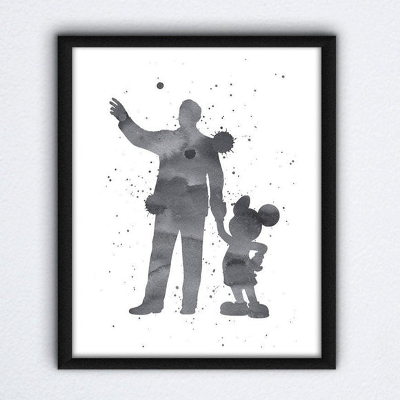 Walt and Mickey Wall Art