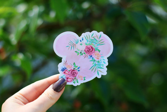 Floral Mickey Sticker