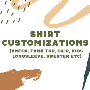 Tee Color/Cut Request - Add On