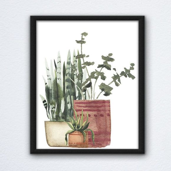 Potted Plant Arrangement Wall Art
