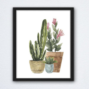 Potted Succulents Wall Art