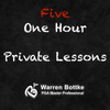 Five One Hour Private Golf Lessons