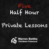 Five Half Hour Private Golf Lessons