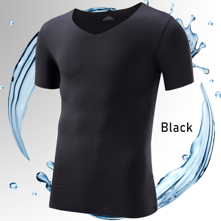 Last Day Promotion - Men's Ice Silk V-Neck T-Shirt
