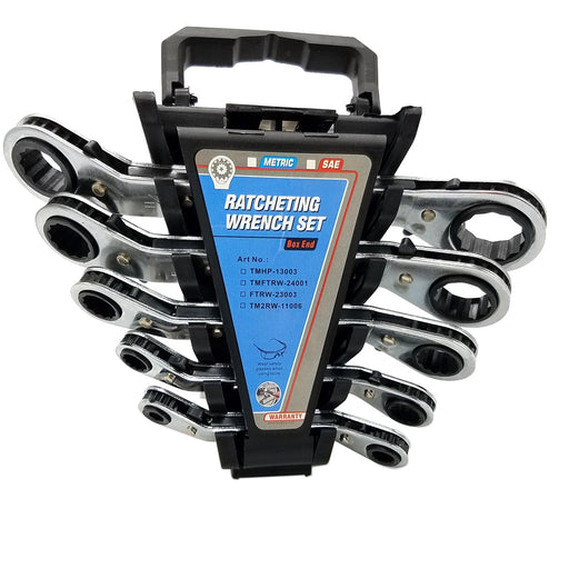 Metric/SAE Ratchet Double End Wrench Set