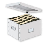 Snap-N-Store File Storage Box, White