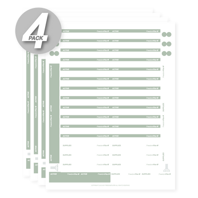 Active 1/3 Tab Blank File Labels, 4-Pack
