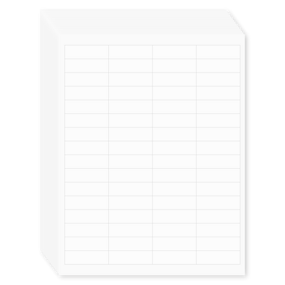 White 1/5 Tab Blank File Labels, 15-Pack
