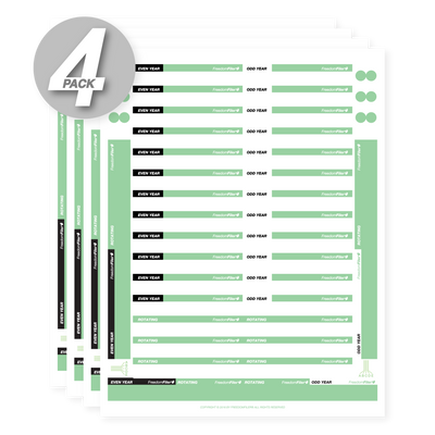 Monthly 1/3 Tab Blank File Labels, 4-Pack