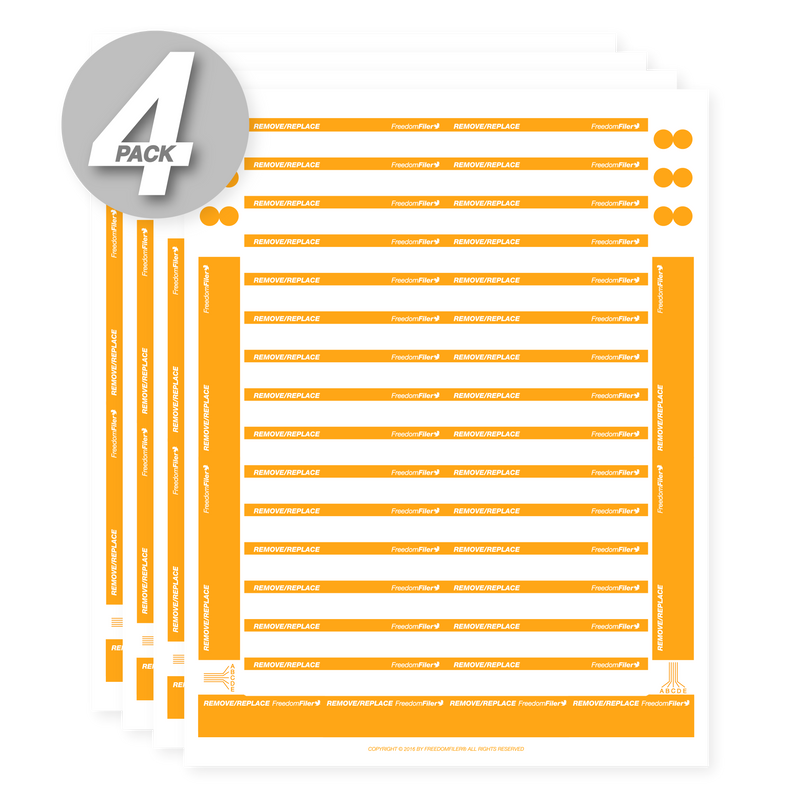 Remove/Replace 1/3 Tab Blank File Labels, 4-Pack