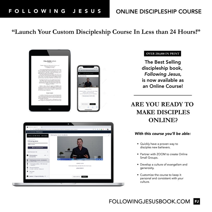 New Believers Small Groups Course based on Following Jesus Book!