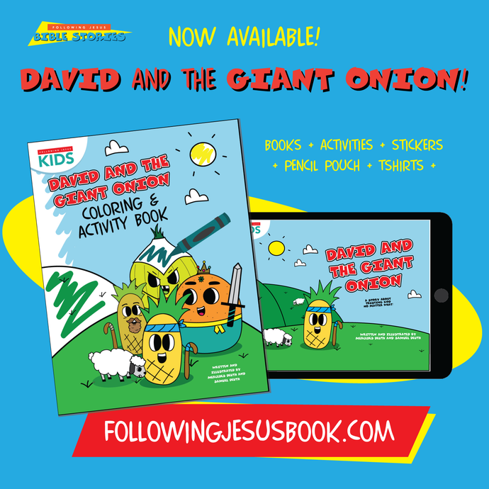 New Kids Bible Stories! David & The Giant Onion will teach Kids to Trust God!
