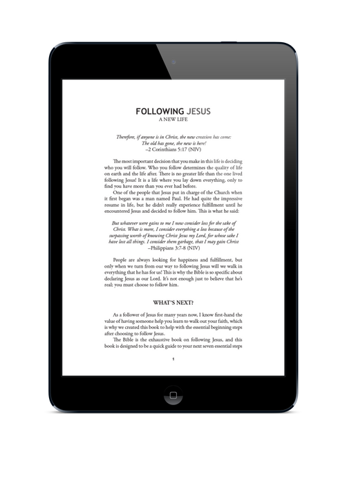 📢   Unlimited Use of the Following Jesus eBook For Your Church!