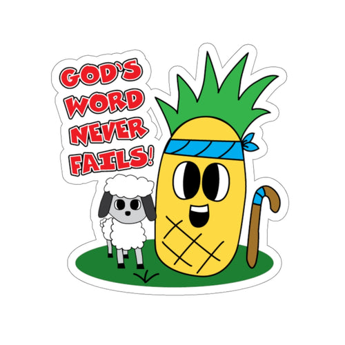 God's Word Never Fails - Sticker  | David & Sheepy