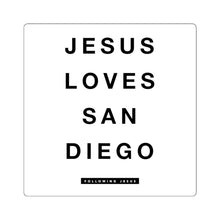 Load image into Gallery viewer, Jesus Loves San Diego - Square Stickers