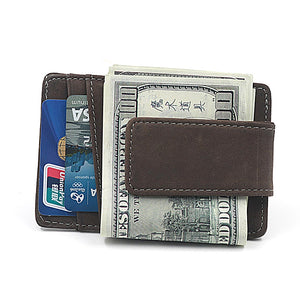 Luxurious Leather Magnetic Money Clip