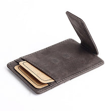 Load image into Gallery viewer, Luxurious Leather Magnetic Money Clip