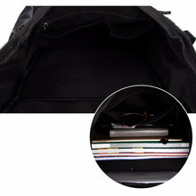 Load image into Gallery viewer, Black Leather Travel Backpack