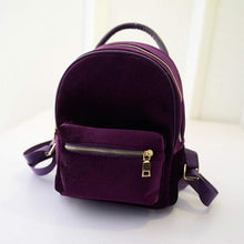 Load image into Gallery viewer, Mini Velvet Backpack