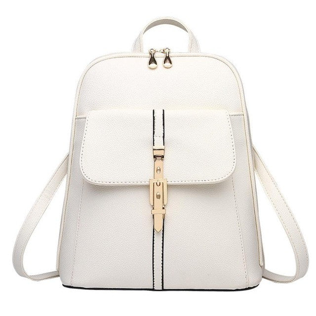 Chic Leather Purse Backpack