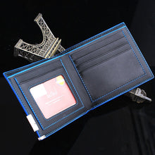 Load image into Gallery viewer, Stylish Business Leather Wallet with Blue Accents