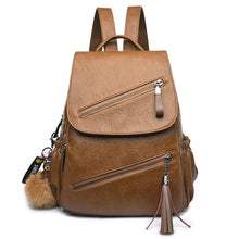 Load image into Gallery viewer, Tassel Leather Backpack