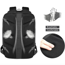 Load image into Gallery viewer, Black Anti-Thief Multifunctional Travel Backpack (15.6'' laptop)