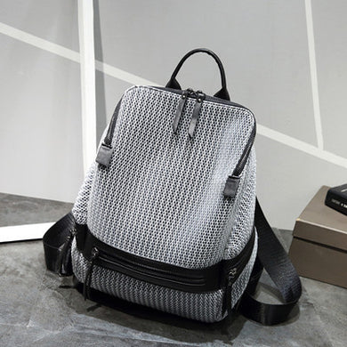 Patterned Nylon Backpack